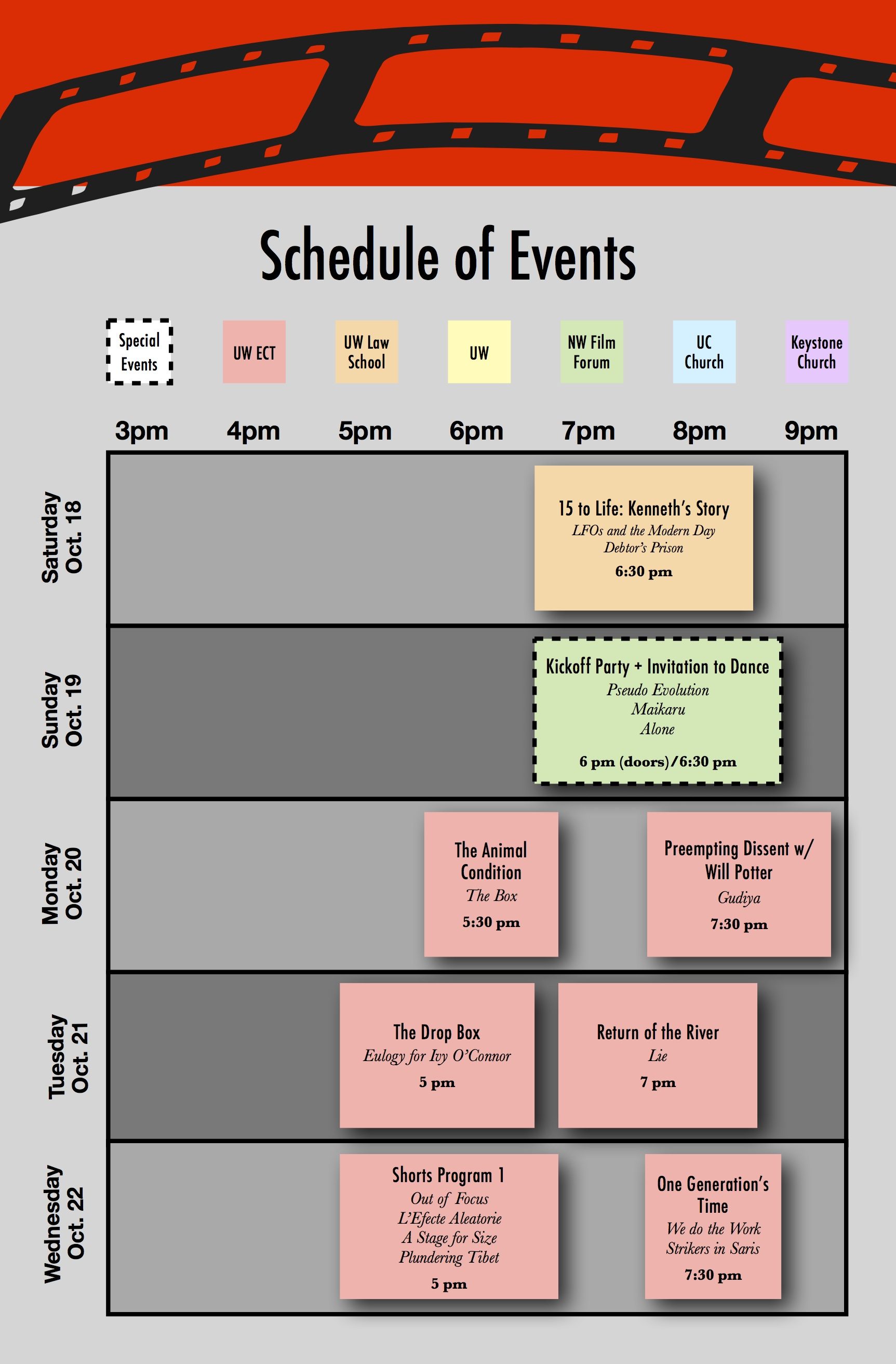 schedule of events social justice film festival
