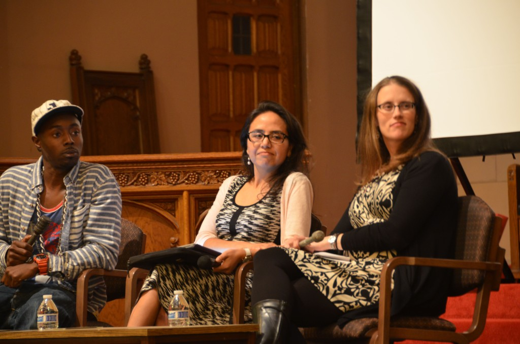Opening night panel discussion about farmworker justice. (Photo by Anne Paxton)