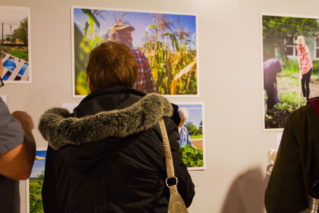 Photo exhibit 'The Faces of Food Justice' by Audra Mulkhern of the Female Farmer Project. (Photo by Colette-Yasi Naraghi)